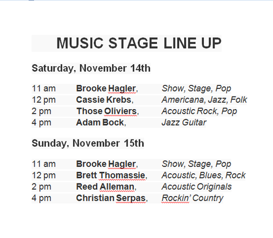 Covington Three Rivers Art Festival Music Stage Line Up