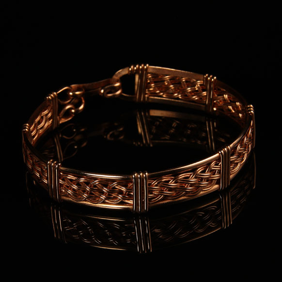 Handcrafted Woven Copper Bracelet