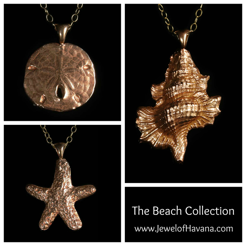 Handcrafted Copper Jewelry - Beach Collection - Sand Dollar - Star Fish - Triton Shell Pendant Necklace