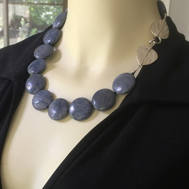 Handmade Natural Blue Coral Necklace