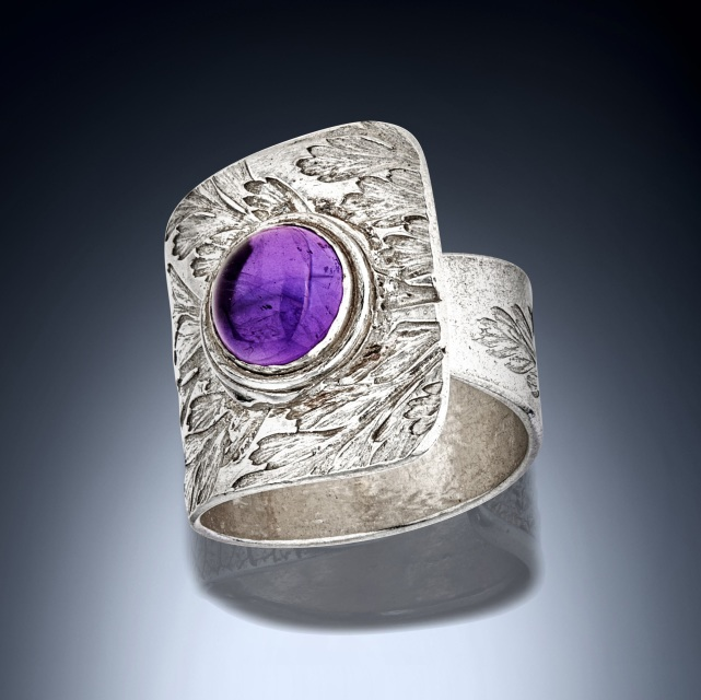 Amethyst Wrap Ring Statement Ring