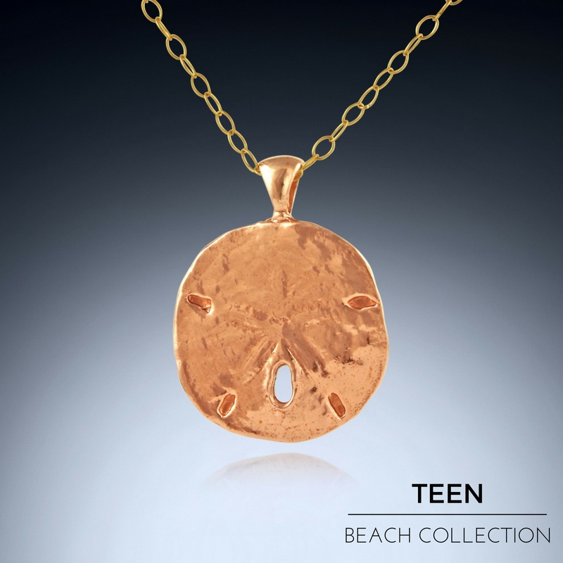 Gift for Teens - Copper Sand Dollar Necklace