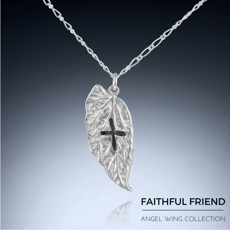 Gift for Faithful - Angel Wing Necklace