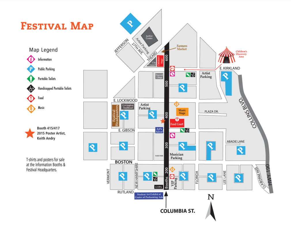 Covington Three Rivers Festival Map