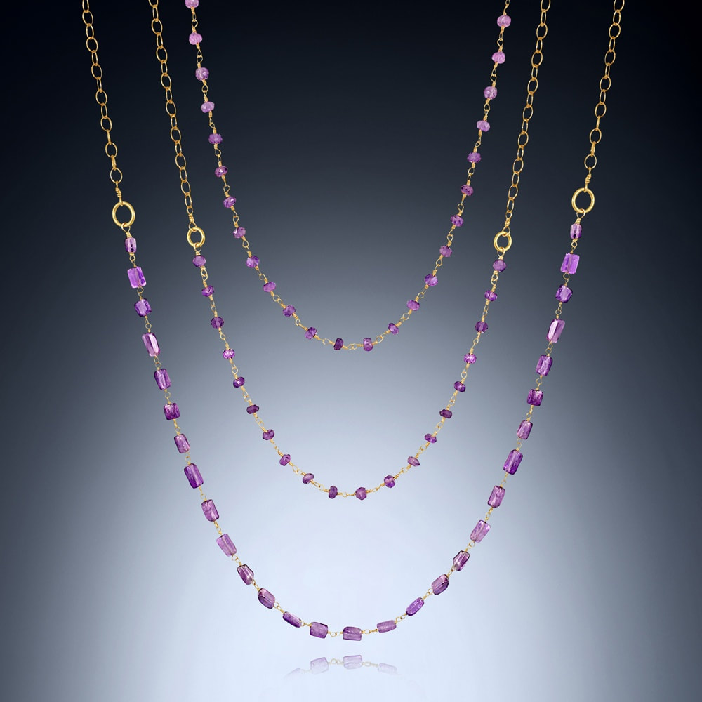 Amethyst Layering Necklaces