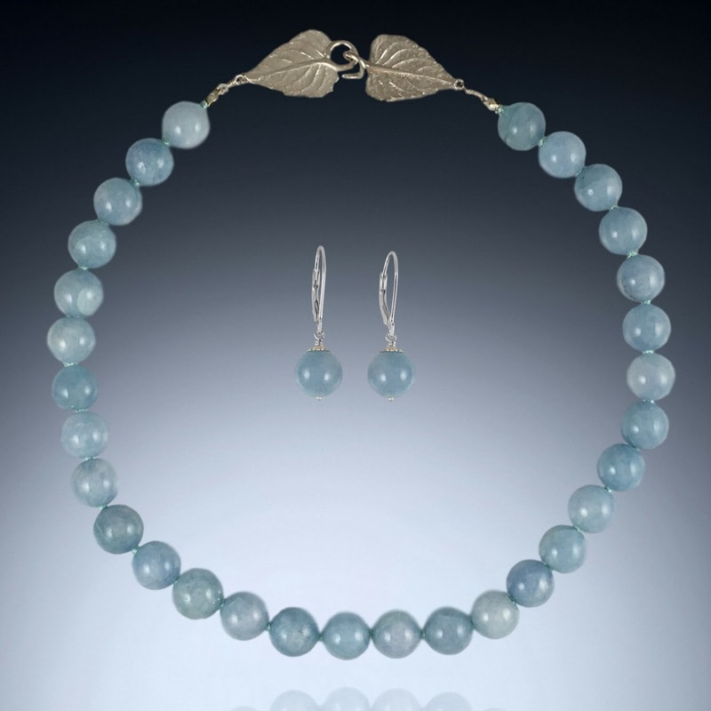 Milky Aquamarine Necklace Set