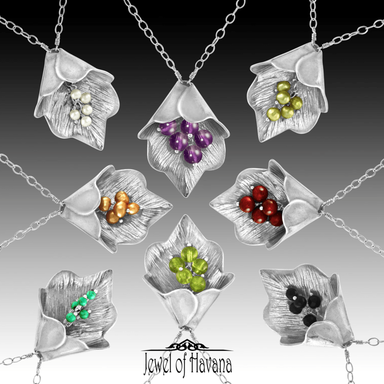Leaf Silver Bell Necklaces