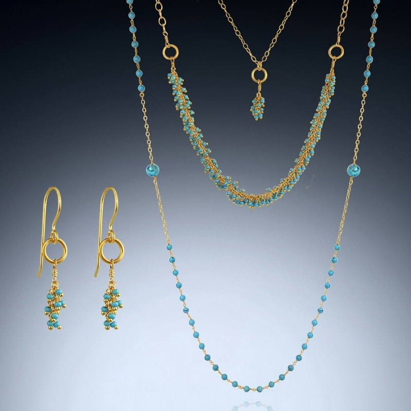 Turquoise Layering Necklace Collection